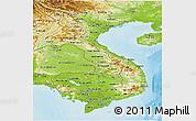 Physical Panoramic Map of Vietnam
