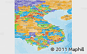 Political Panoramic Map of Vietnam