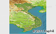 Satellite Panoramic Map of Vietnam, physical outside, satellite sea