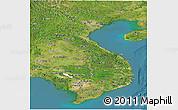 Satellite Panoramic Map of Vietnam