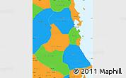 Political Simple Map of Phu Yen