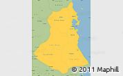 Savanna Style Simple Map of Phu Yen