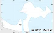 Silver Style Simple Map of Da Nang Town