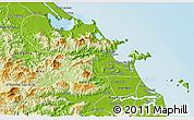 Physical 3D Map of Hoa Vang