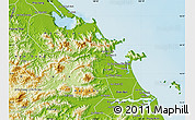 Physical Map of Hoa Vang