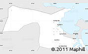 Silver Style Simple Map of Hoa Vang
