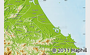 Physical Map of Nui Thanh