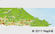 Physical Panoramic Map of Nui Thanh