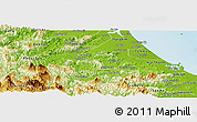 Physical Panoramic Map of Tien Phuoc