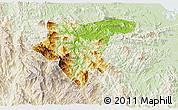 Physical 3D Map of Tra My, lighten