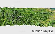 Satellite Panoramic Map of Tra My