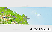 Physical Panoramic Map of Binh Son