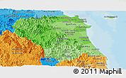Political Shades Panoramic Map of Quang Ngai