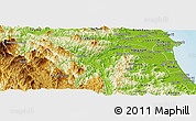 Physical Panoramic Map of Son Ha