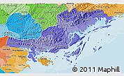 Political Shades 3D Map of Quang Ninh