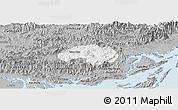 Gray Panoramic Map of Ba Che