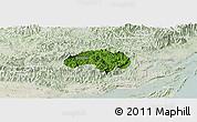 Satellite Panoramic Map of Ba Che, lighten
