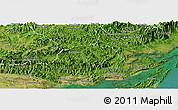 Satellite Panoramic Map of Ba Che