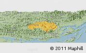 Savanna Style Panoramic Map of Ba Che