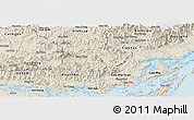 Shaded Relief Panoramic Map of Ba Che
