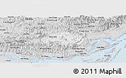 Silver Style Panoramic Map of Ba Che