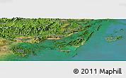 Satellite Panoramic Map of Cam Pha Town