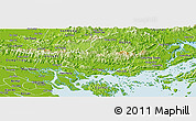 Physical Panoramic Map of Hoanh Bo