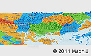 Political Panoramic Map of Hoanh Bo