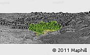 Satellite Panoramic Map of Hoanh Bo, desaturated