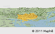 Savanna Style Panoramic Map of Hoanh Bo