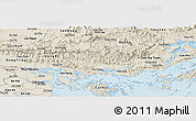 Shaded Relief Panoramic Map of Hoanh Bo