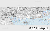Silver Style Panoramic Map of Hoanh Bo