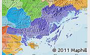 Political Shades Map of Quang Ninh
