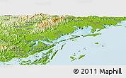 Physical Panoramic Map of Quang Ha