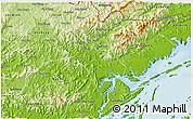 Physical 3D Map of Tien Yen