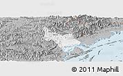 Gray Panoramic Map of Tien Yen