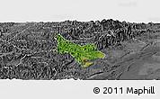 Satellite Panoramic Map of Tien Yen, desaturated
