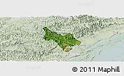 Satellite Panoramic Map of Tien Yen, lighten