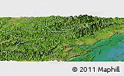 Satellite Panoramic Map of Tien Yen