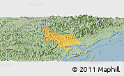 Savanna Style Panoramic Map of Tien Yen