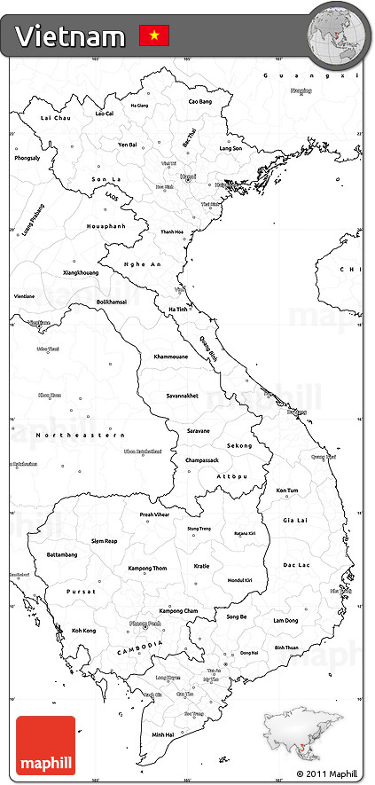 Obsessed image within printable map of vietnam