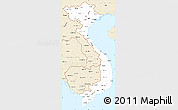 Classic Style Simple Map of Vietnam