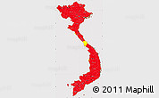 Flag Simple Map of Vietnam, flag rotated