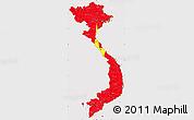 Flag Simple Map of Vietnam