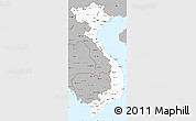 Gray Simple Map of Vietnam