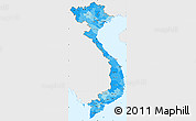 Political Shades Simple Map of Vietnam, single color outside