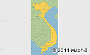 Savanna Style Simple Map of Vietnam