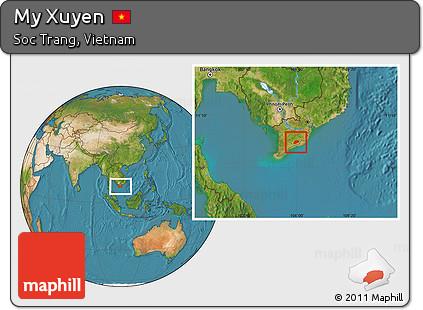 Free Satellite Location Map of My Xuyen