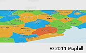 Political Panoramic Map of Soc Trang