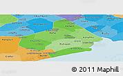 Political Shades Panoramic Map of Soc Trang